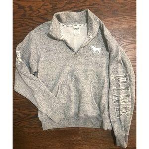 PINK Brand Quarter Zip Pull Over Sweatshirt